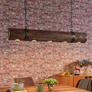Extravagant luminaire suspendu en bois Legno