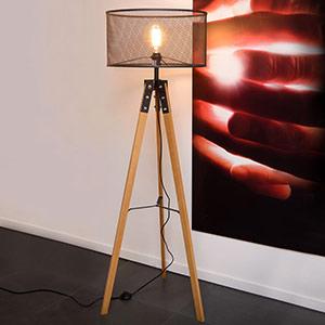 Superbe lampadaire trépied Aldgate