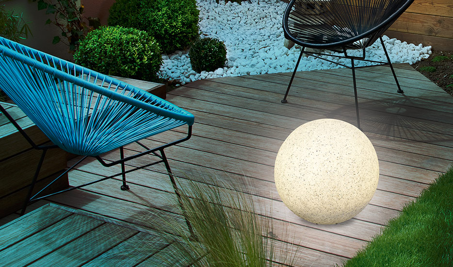 lampe solaire decorative boule