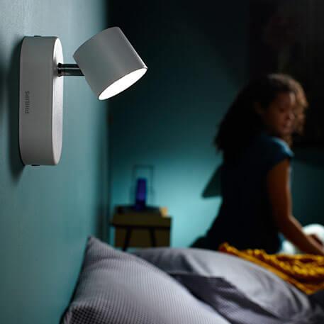 La lampe de chevet...au mur !