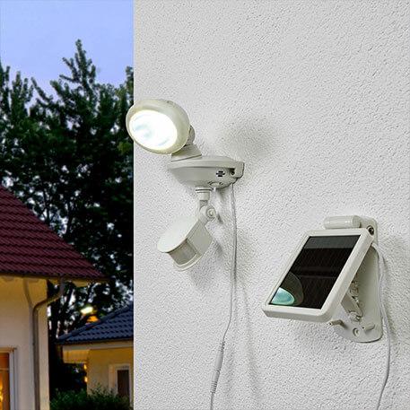 Projecteur LED solaire SOL 14 IP44 blanc