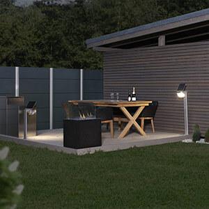 Applique LED solaire XSolar Stand blanche