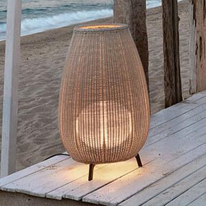 Bover Amphora 01 - lampe pour terrasse en rotin