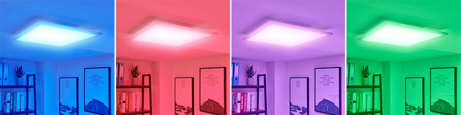 Panneau LED Tinus, variateur de couleur RVB