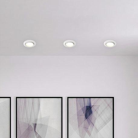 Kit de 3 lampes encastr. Easydim Honor avec LED