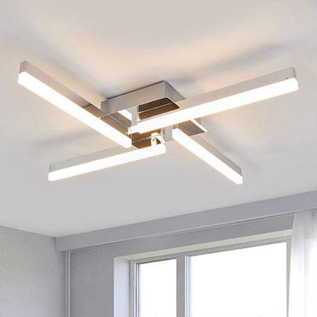 Plafonnier LED à quatre lampes Patrik, IP44