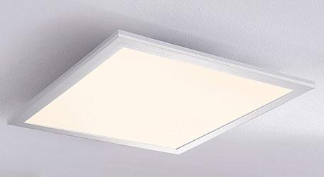 Plafonnier LED carré Liv, 28 W