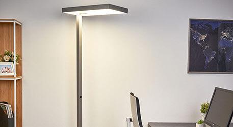 Lampadaire LED de bureau Nora avec détecteur