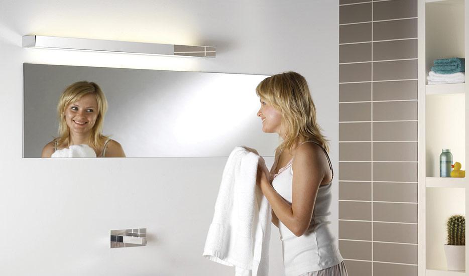 Applique salle de bain TALLIN 1200 aspect chrome