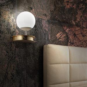 Élégante applique LED Sfera dorée