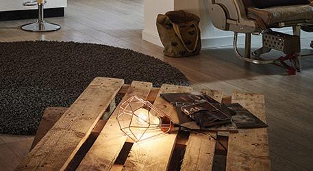 Lampe à poser Tarbes Vintage, finition cuivre