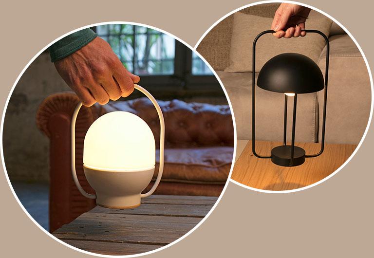 Baladeuses et lampes portatives