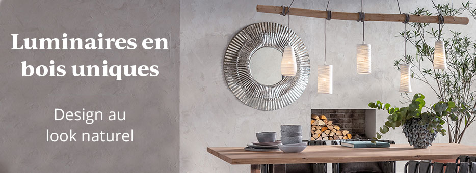 Luminaires en bois uniques