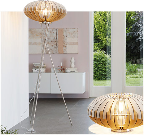Lampe à poser & lampadaire Sotos (3032023, 3032024)