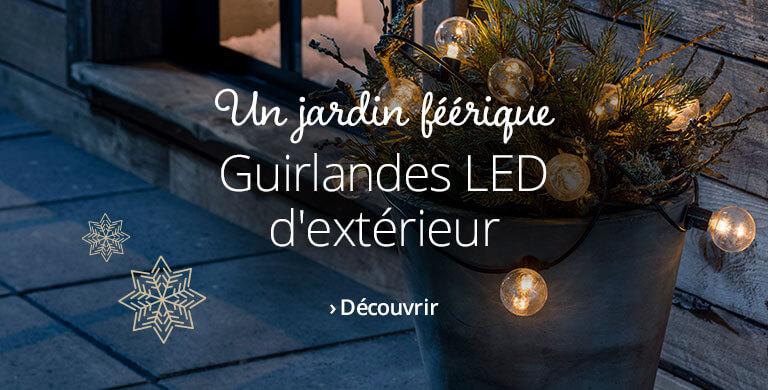 Guirlandes LED d'extérieur