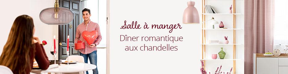 Salle à manger | Dîner romantique aux chandelles